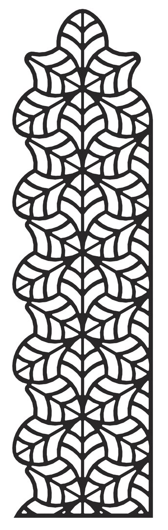Jungle Trellis (tall) - with 1 x flat/1 x shaped sides